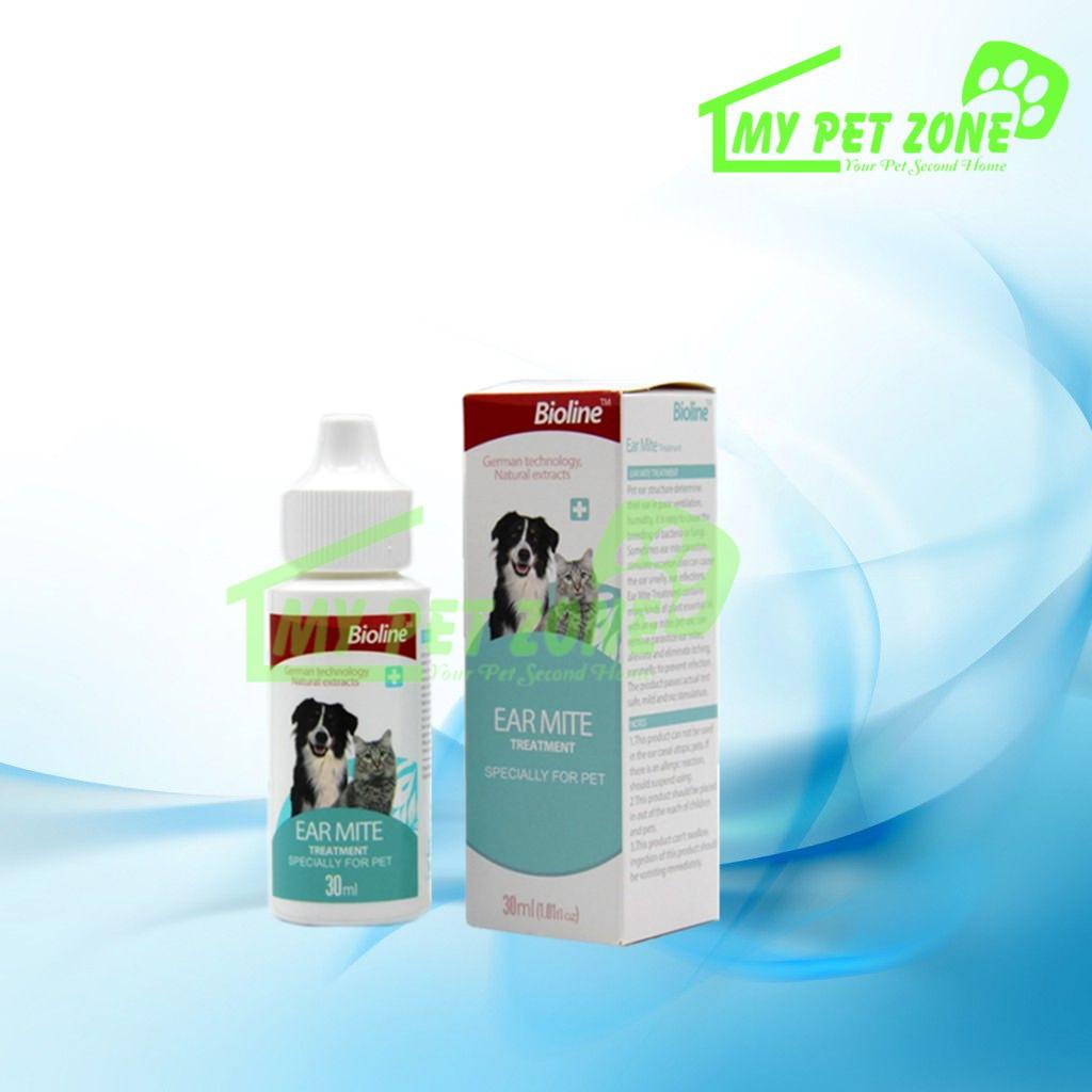 Bioline Ear Mite Treatment / Ear Care (Dog & Cat) 30ML
