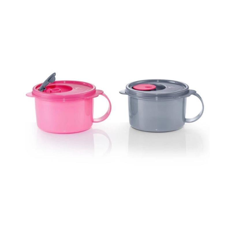 Tupperware Crystalwave Soup Mug(2)460ml