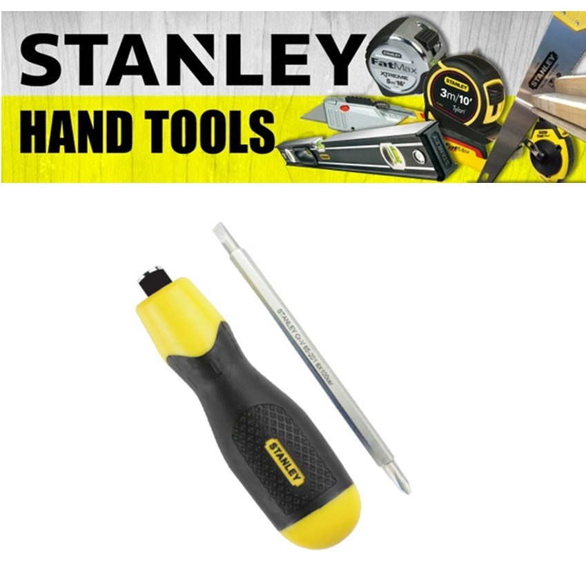 STANLEY CUSHION GRIP MULTI BITS 2 WAYS 65-201  PHILIPS SLOTTED