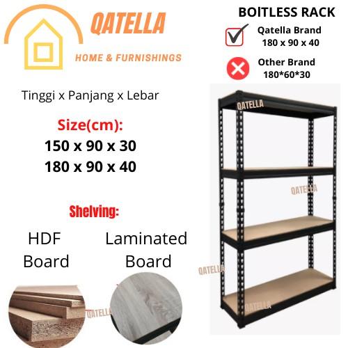 Rak 2 in 1 Boltless Rack + Table Set / Office Set / Boltless Rack / Rak Besi Serbaguna / Metal Rack / Rak logam /Rackin