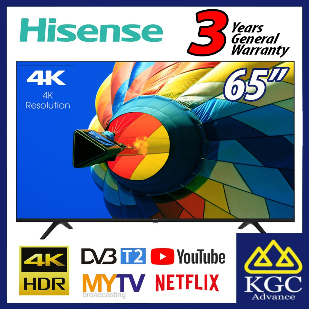 Hisense 65 65a7100f Smart 4k Uhd A7100f Series Tv 2020 New Model Free Shipping Shopee Malaysia