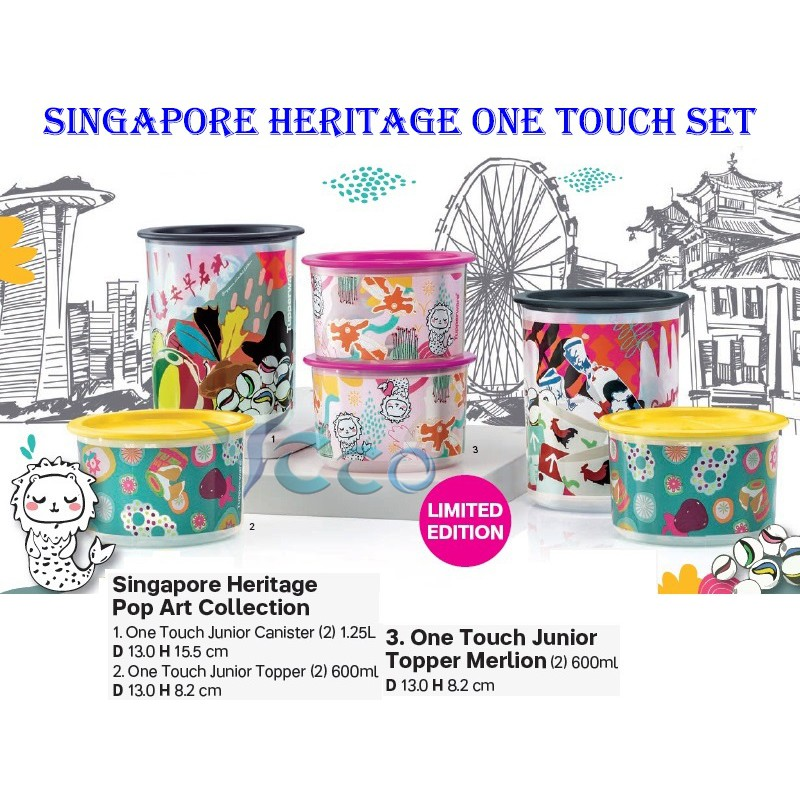 Tupperware One Touch Singapore Heritage Pop Art Collection
