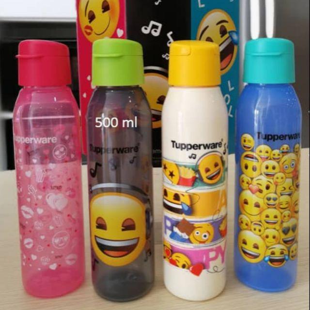 [TUPPERWARE] Emoji Eco Bottle 500ml (4) with giftbox Drinking bottle botol air