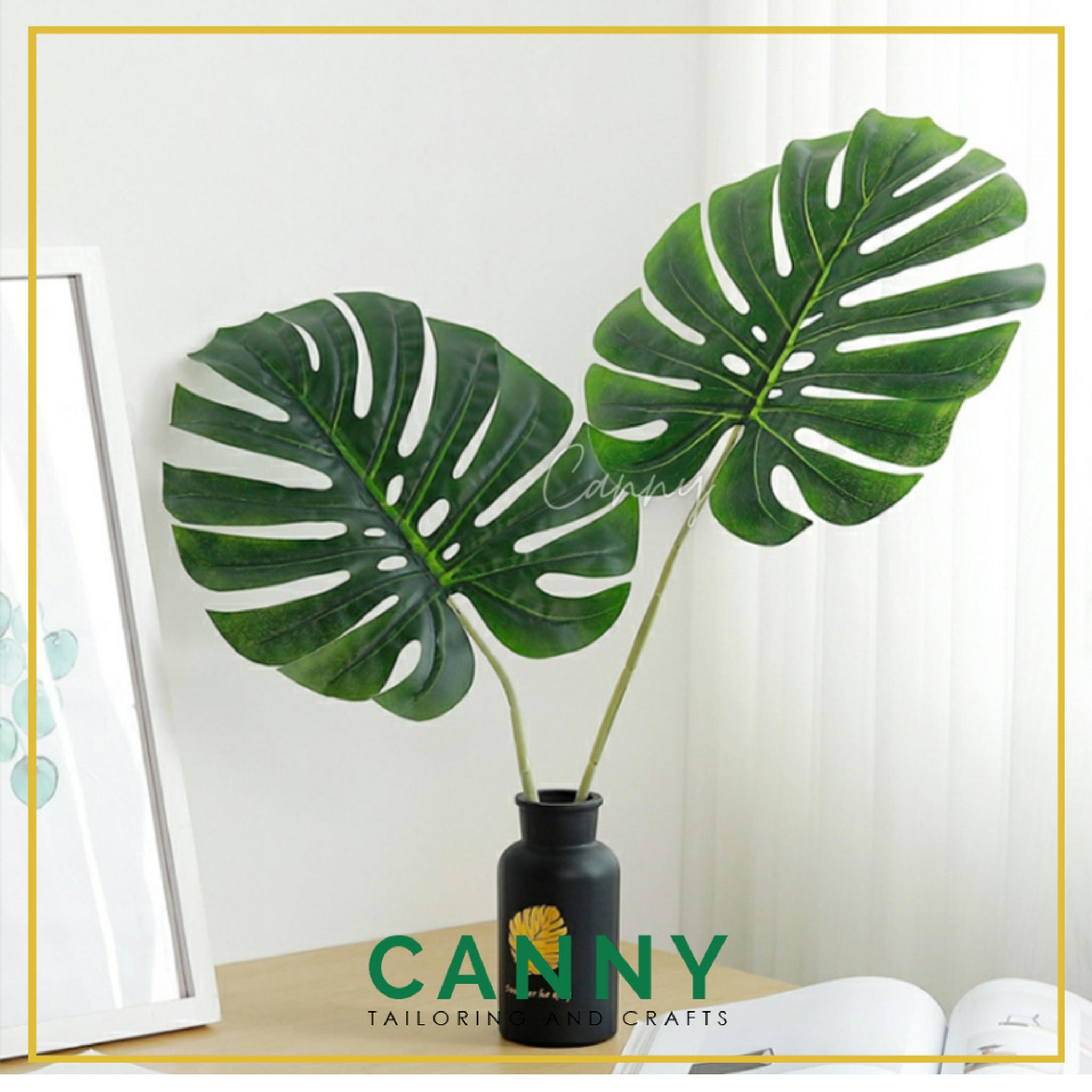 Artificial Leaves for Decoration Monstera Big Size / Daun Monstera Berkualiti dan Besar (1 PCS) [CODE: LF-037]