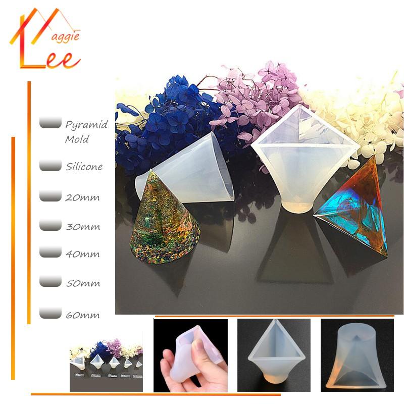 【maggielee】 DIY Crystal Silicone Mould Triangle Pyramid | Shopee Malaysia