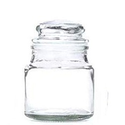 Glass jar with glass cap / Candle making/Candle Container/ Food storage/ Snack Storage/ Candle jar/DIY Candle