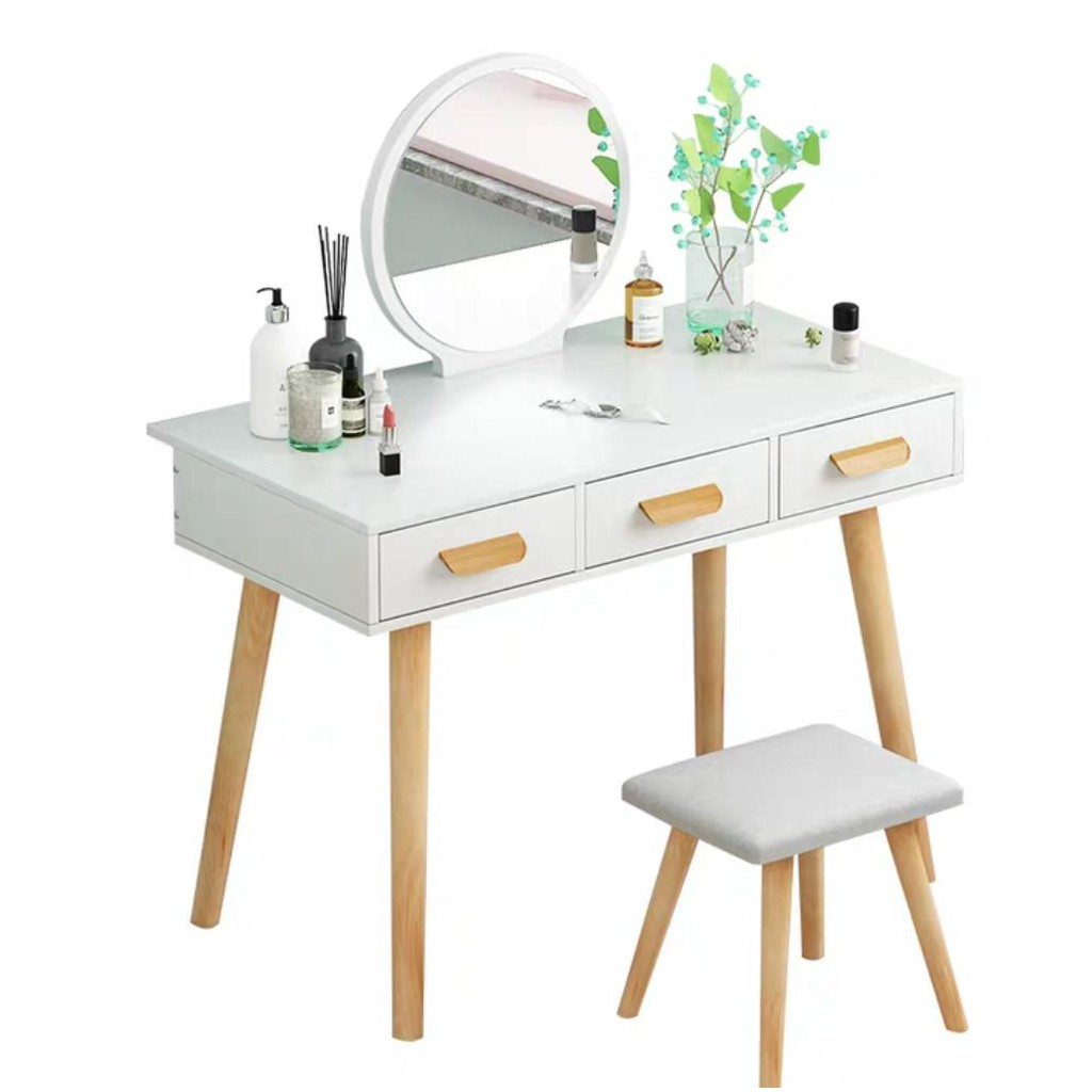 Ready Stock Post In 24 Hrs Modern Dressing Table Nordic Style Vanity Set Meja Solek Shopee Malaysia