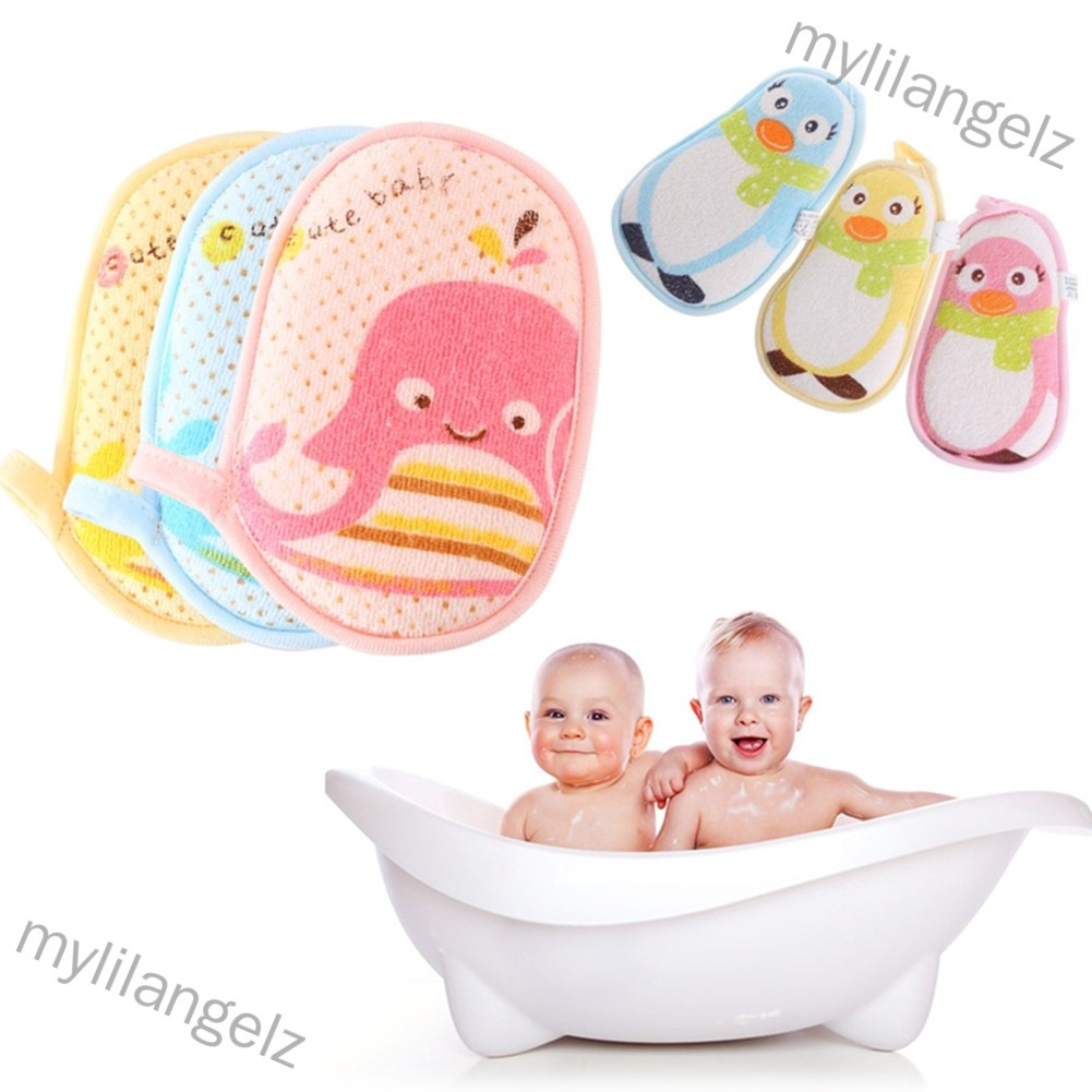 Mylilangelz Baby Soft Bath Sponge Baby Bath Supplies for Children Cleaning Skin and Body (READY STOCK)