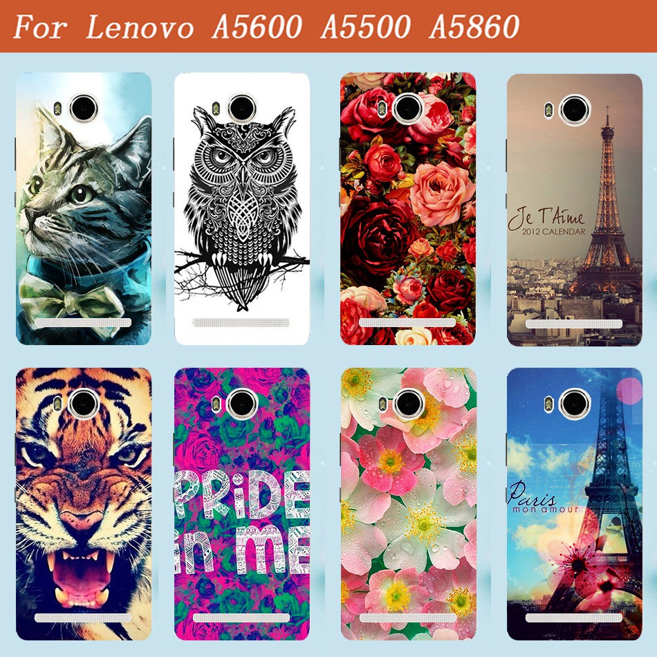 uk availability c37cd e835b Beautiful Painted Protective phone case cover For Lenovo S8 play A5860 A5600