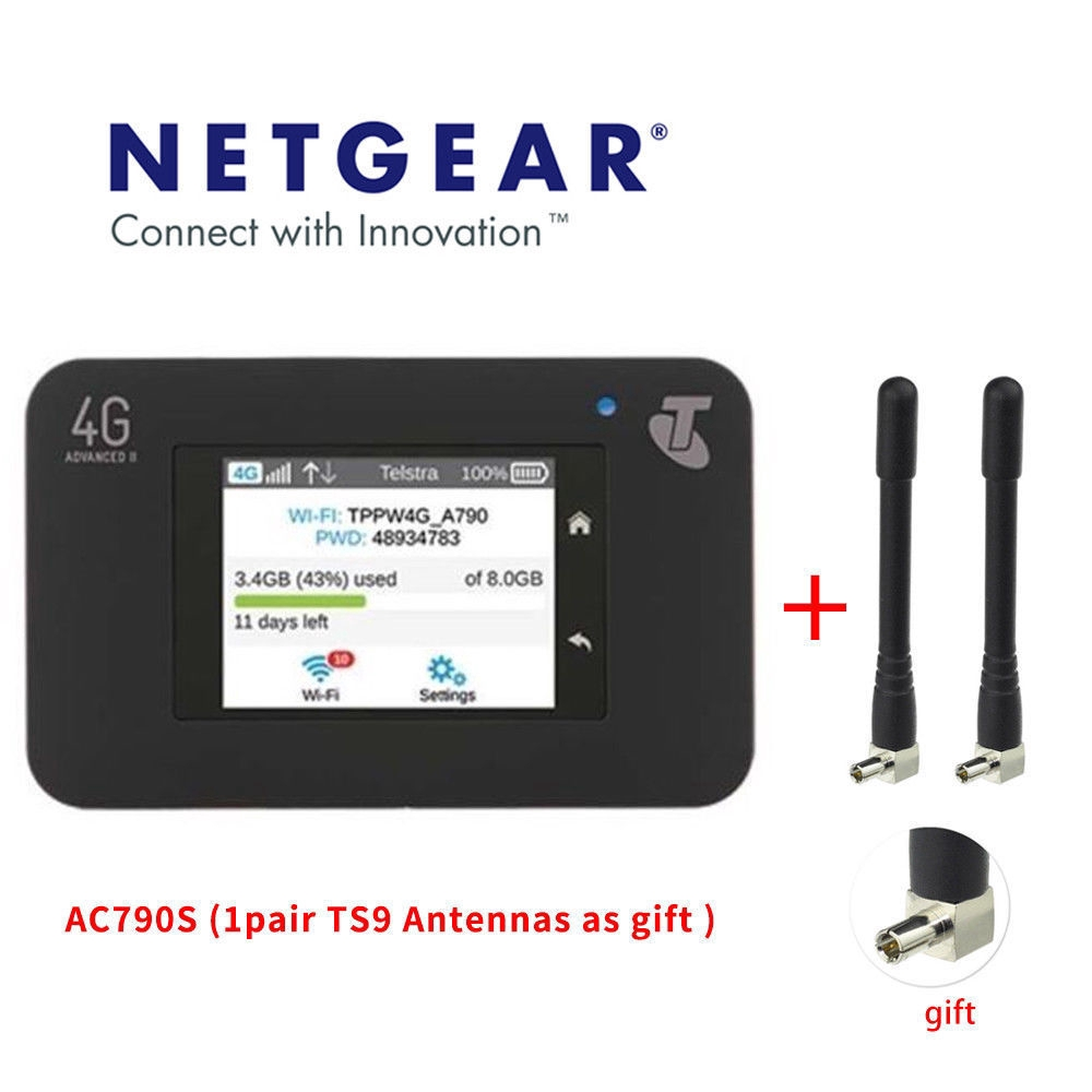 Unlocked Netgear Aircard 790s 300Mbps Cat6 4G Mobile Hotspot Wifi Route AC790S