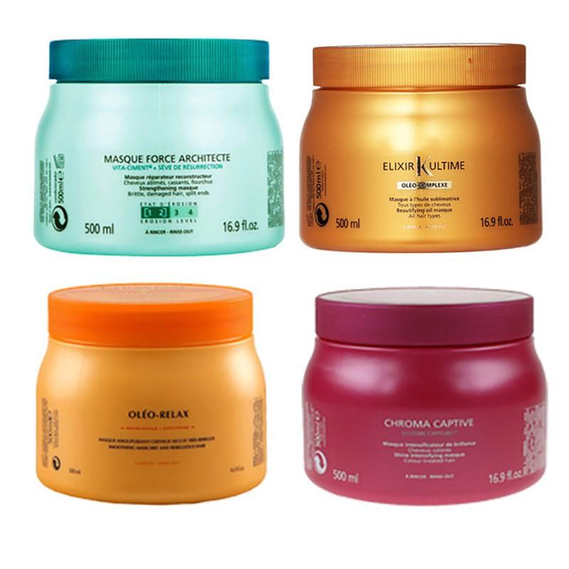 97cd903d1966 KERASTASE Hair Mask 500ml Oleo-Relax/Chroma/Masque/Elixir Ultime 发 ...