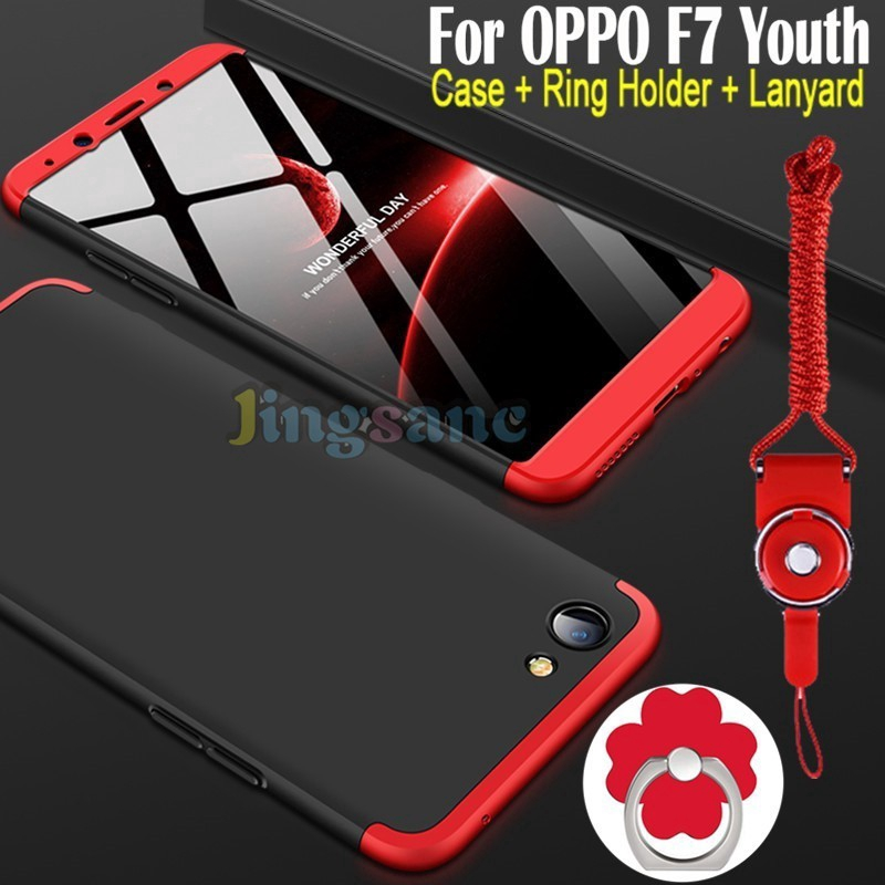 quality design f78db 160e8 For OPPO F7 Youth R11S Plus F3 A77 Case 360 Degree Protection Phone Hard  Cover