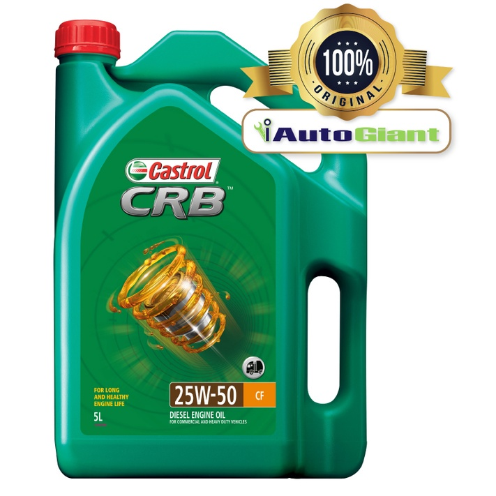 CASTROL CRB 25W50 CF, 5L DIESEL ENGINE OIL (100% ORIGINAL)