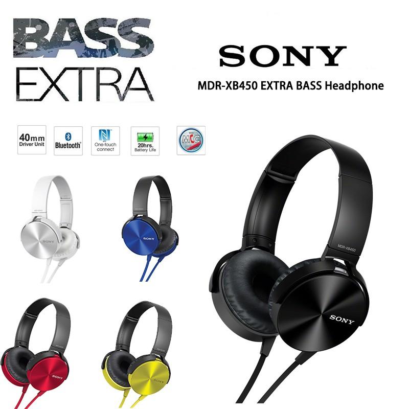 Original Sony Headphone Bluetooth HeadphoneMDR-XB450AP EXTRA B Noise on