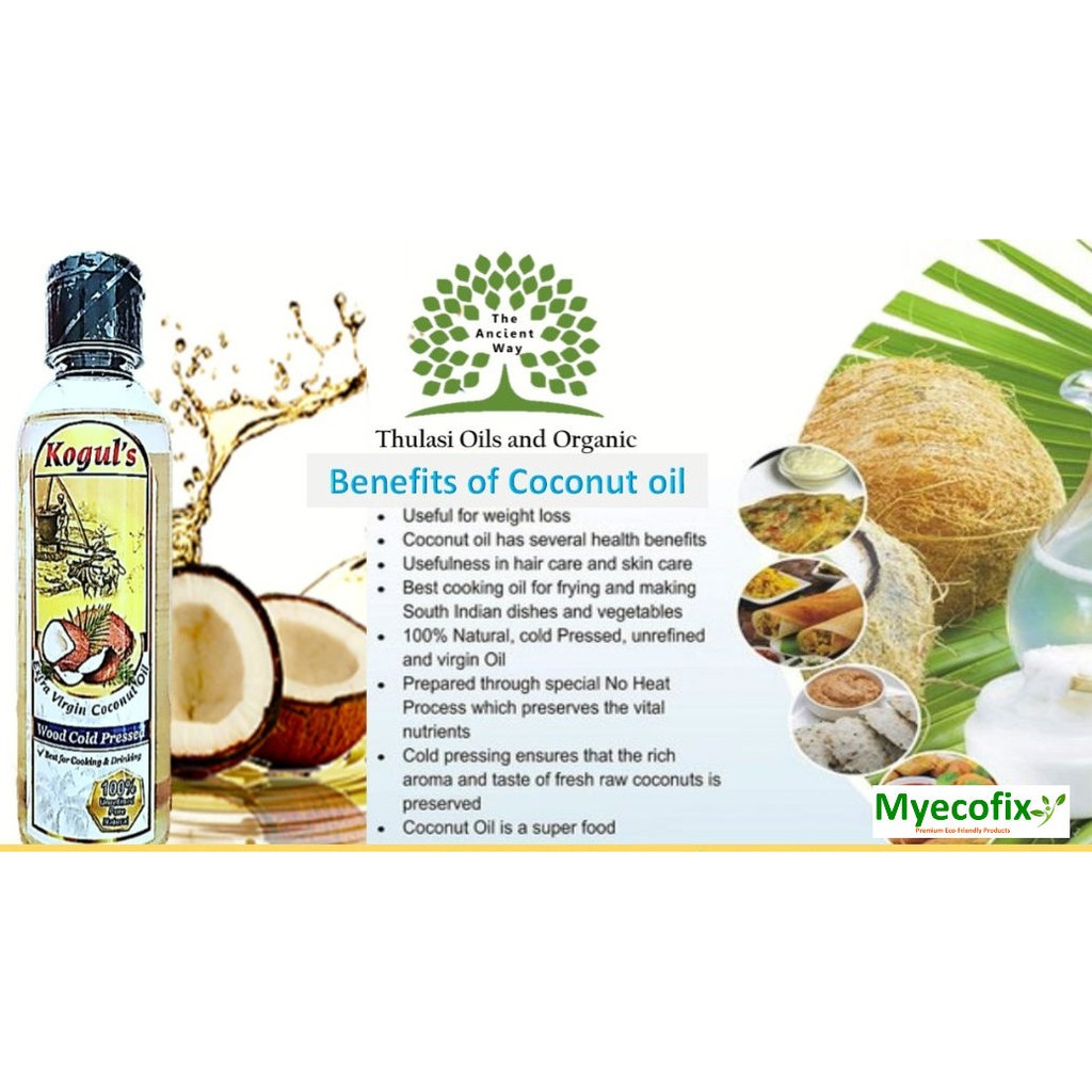 Wood Cold Pressed Extra Virgin Coconut Oil 100% Pure  And Natural- Non Chemical and Palm oil mix. 500ml