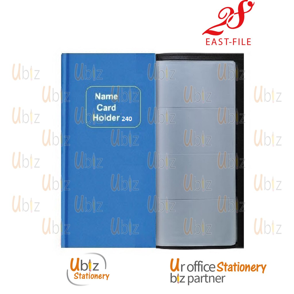 Name Card Holder/Book 240's (Random Colour)