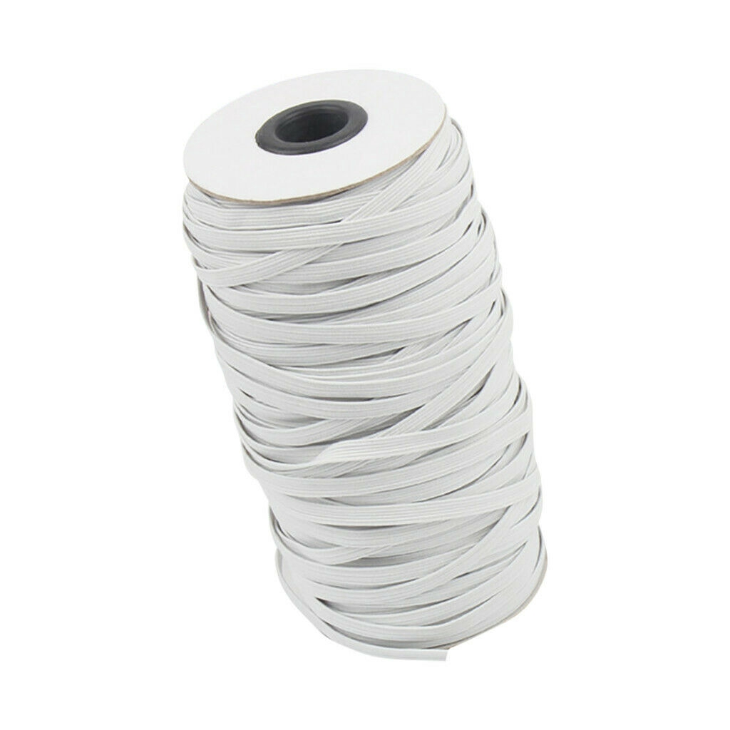 Flat elastic Lengths cut to order White 19mm 3//4 inch Button Hole Elastic