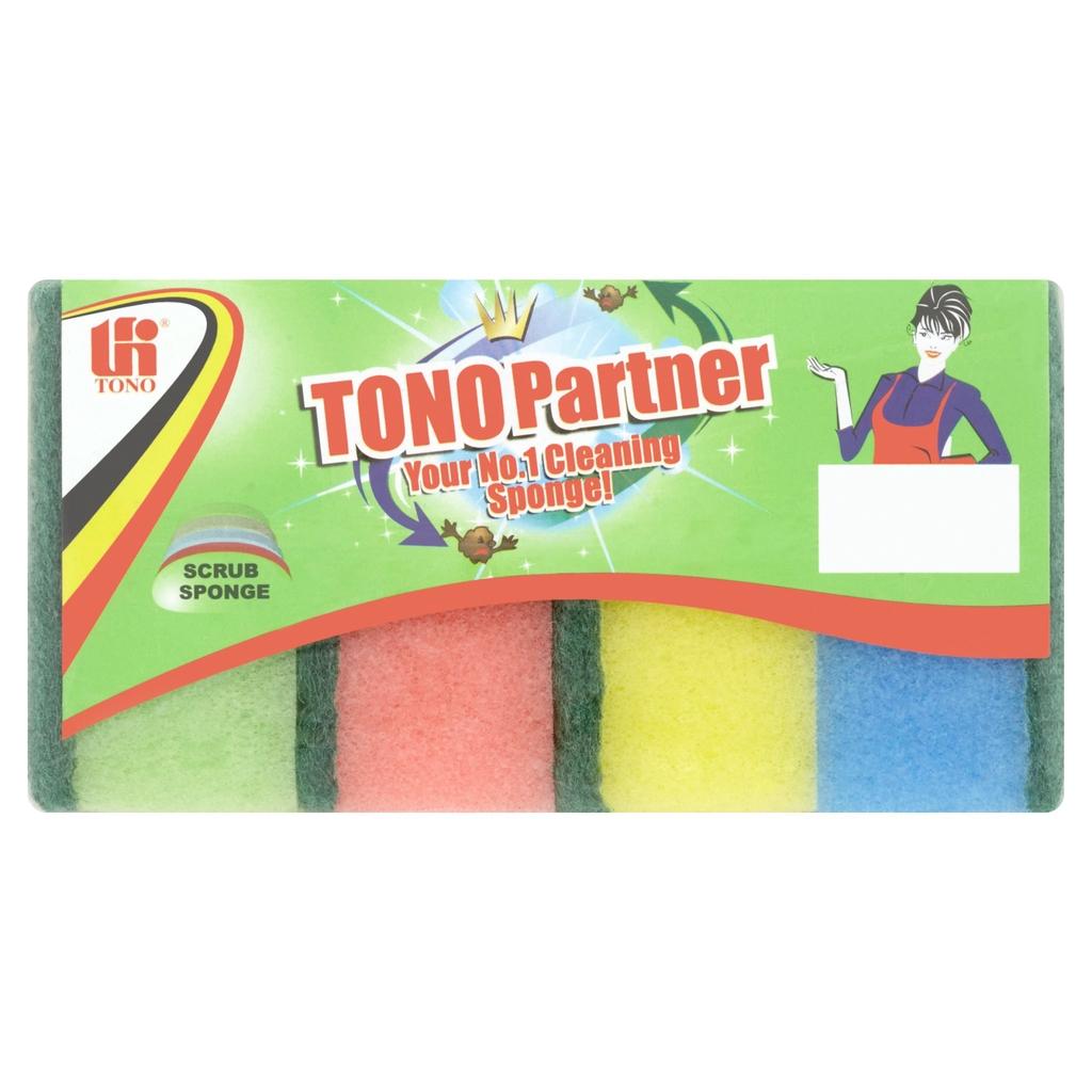 Tono Partner Scrub Sponge 325 4Pcs
