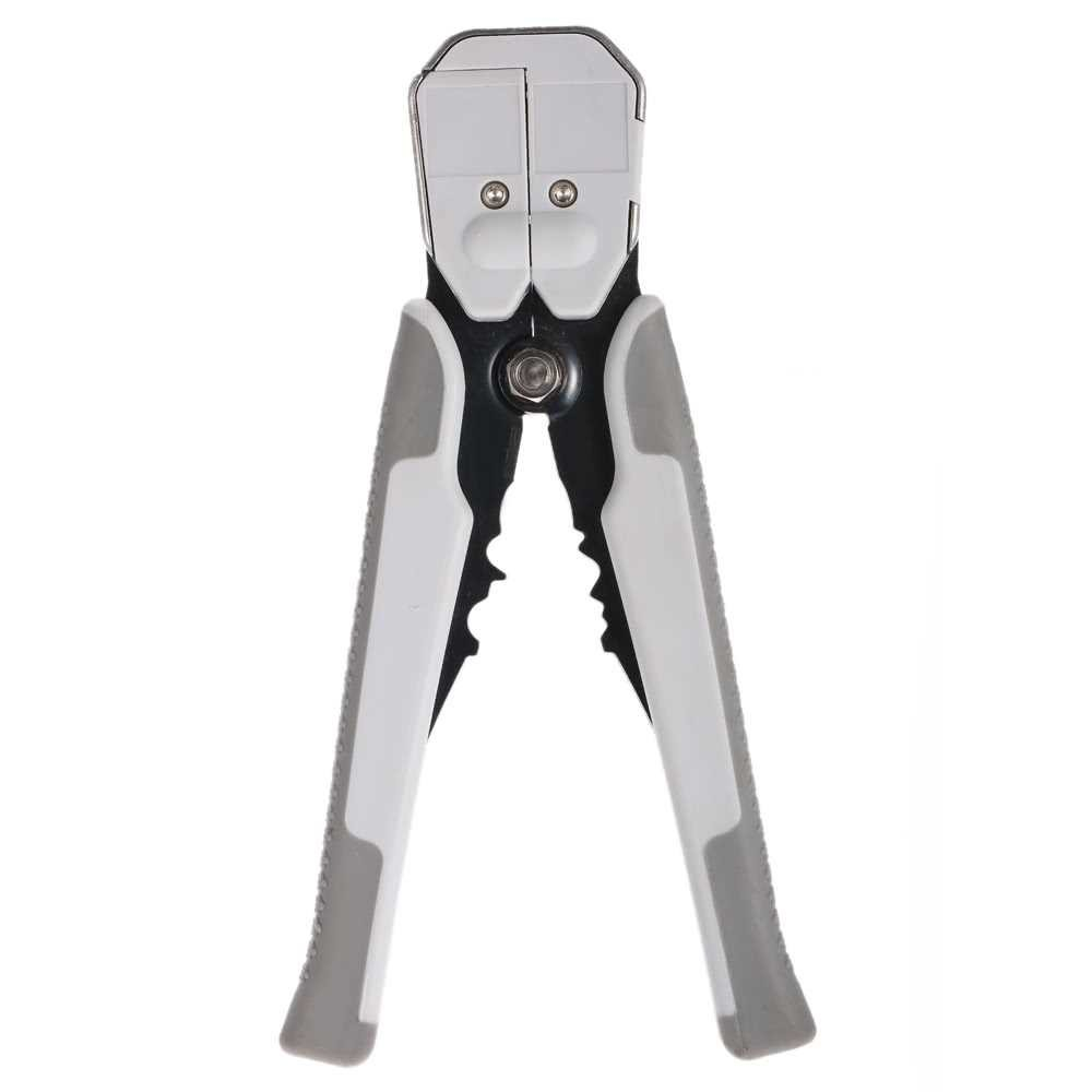 Multifunctional Automatic Adjustable Cable Wire Stripper Cutter Crimping Tool Peeling Pliers (gray)