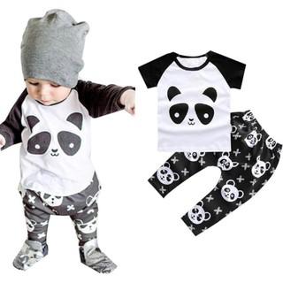 0b62b02b6dd29 1Set Baby Toddler Clothes Boy Panda Shirt + Pants Kids Sets Outfit ...