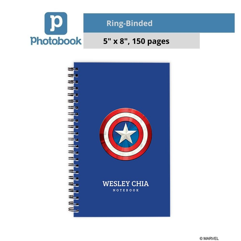 "Personalized Disney Ring-Binded Notebook (5"" x 8"") [e-Voucher] Photobook"