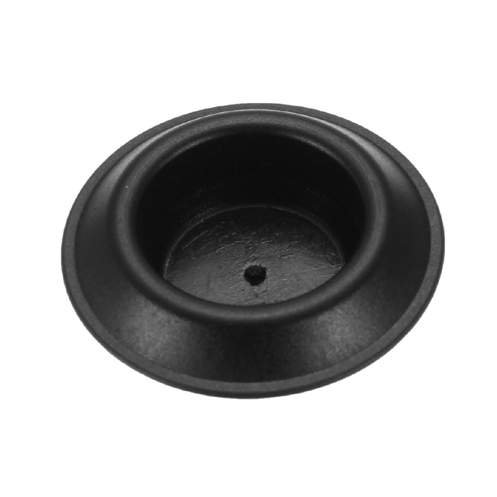 "Qty 15 1/"" 55 MM Inch Flush Mount Black Plastic Body and Sheet Metal Hole Plugs"