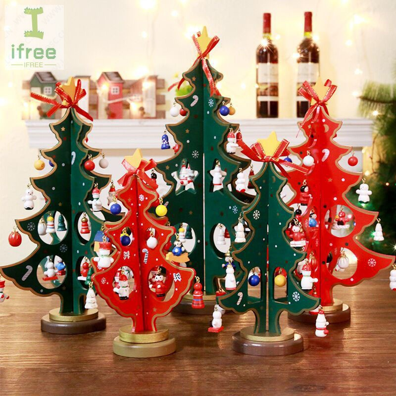 Miniature Christmas Ornaments.Miniature Christmas Ornaments Wooden Mini Christmas Tree Desktop Decor Crafts Gift Home Party Decor