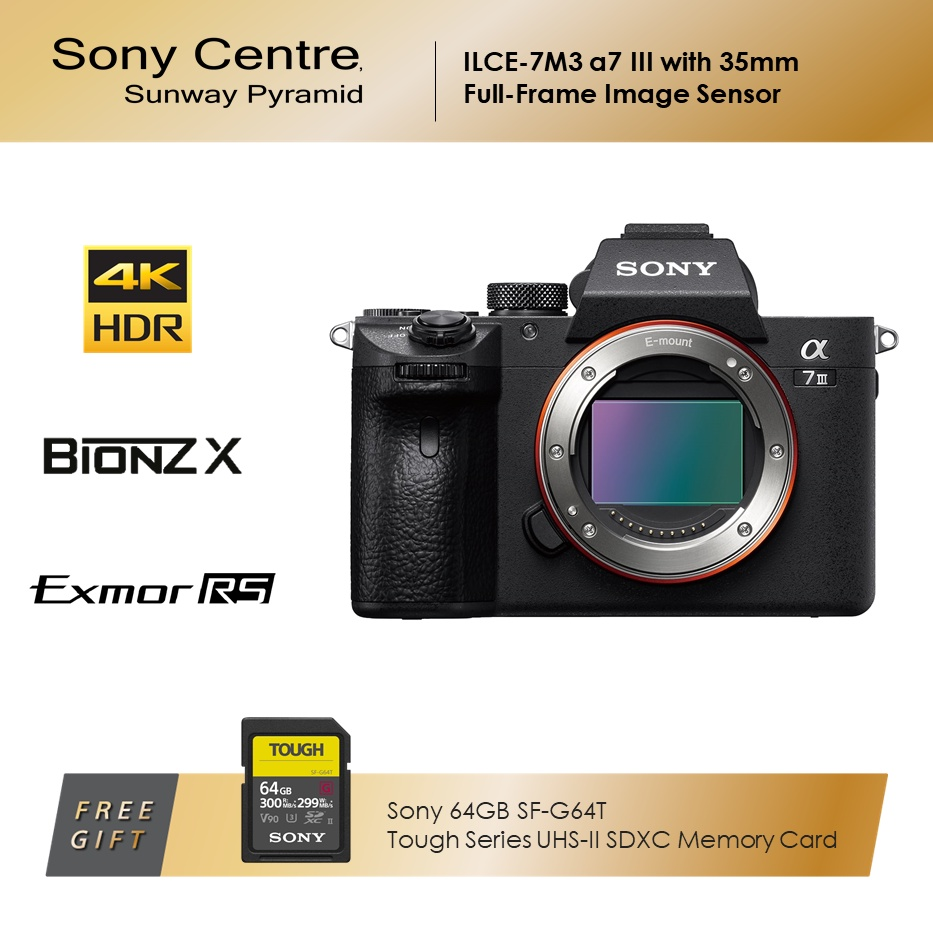 Sony ILCE-7M3 A7 III with 35mm Full-Frame Image Sensor