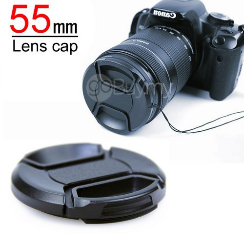 55mm Lens Cap Cover for Canon/Nikon/Universal