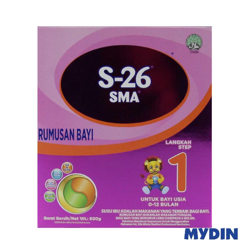 Wyeth S-26 SMA Infant Formula Step 1 Milk Powder 600g