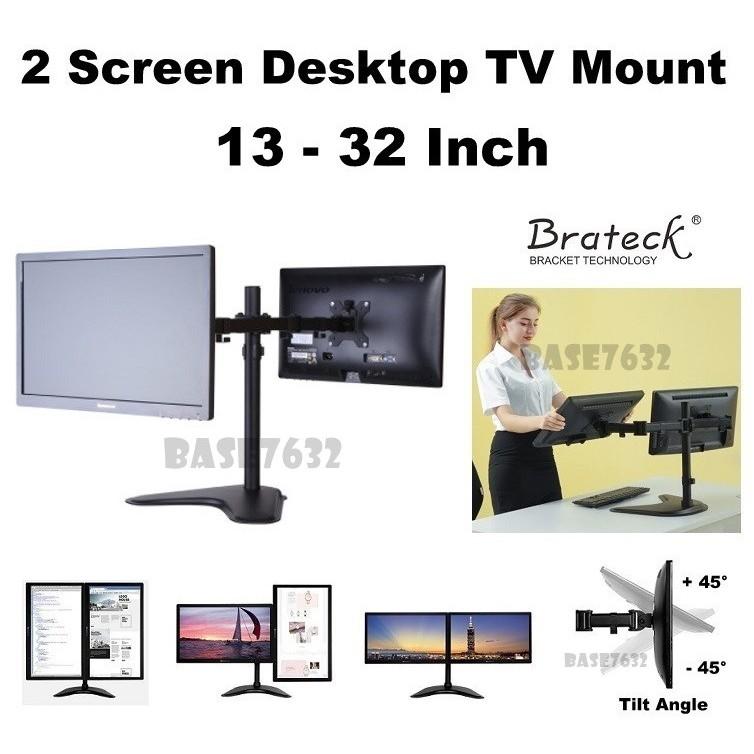 1//2//3 Arm Desk Mount TV Screen Monitor Arm Stand Gas Spring Heavy Duty Desktop