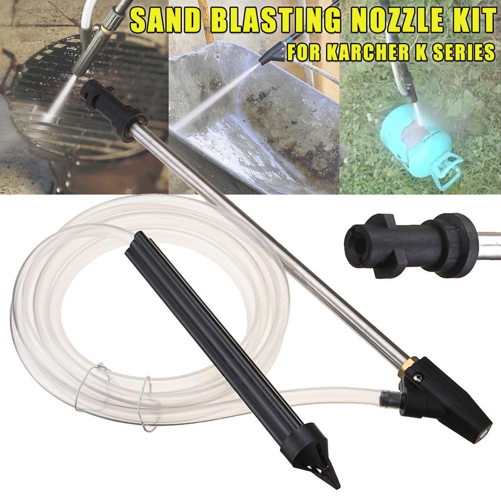 1 Set Sandblasting Tube For Karcher M22 High Pressure Nozzle Car Washing Machine