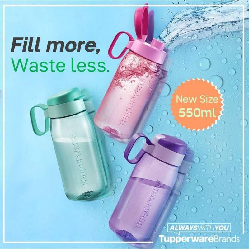 New Size Tupperware H2Go Tumbler - 550ml / Green / Pink / Purple / Bottle Water