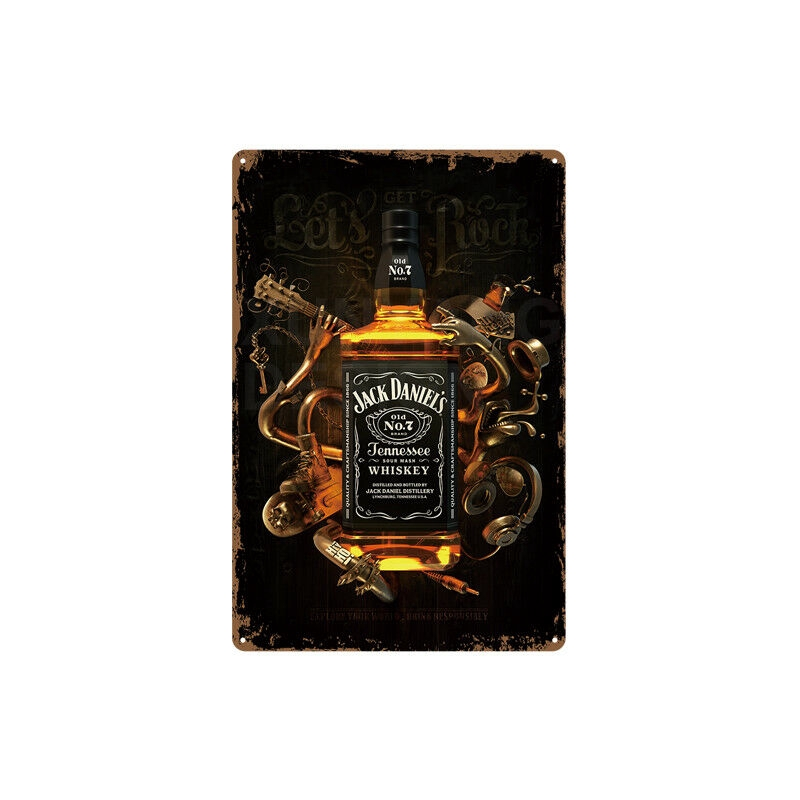Metal Tin Sign Jack Daniels Decor Bar