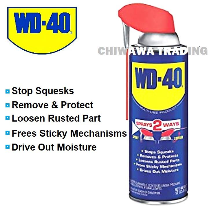 WD-40 Sprays 2 Ways Multi-Use Product Anti Rust Lubricant Spray Stream
