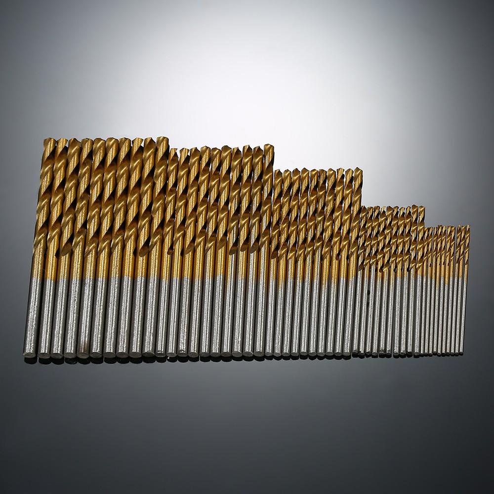 1.0mm-3.0mm HSS High Speed Steel Straight Shank Twist Drill Bit Set Tools 25pcs