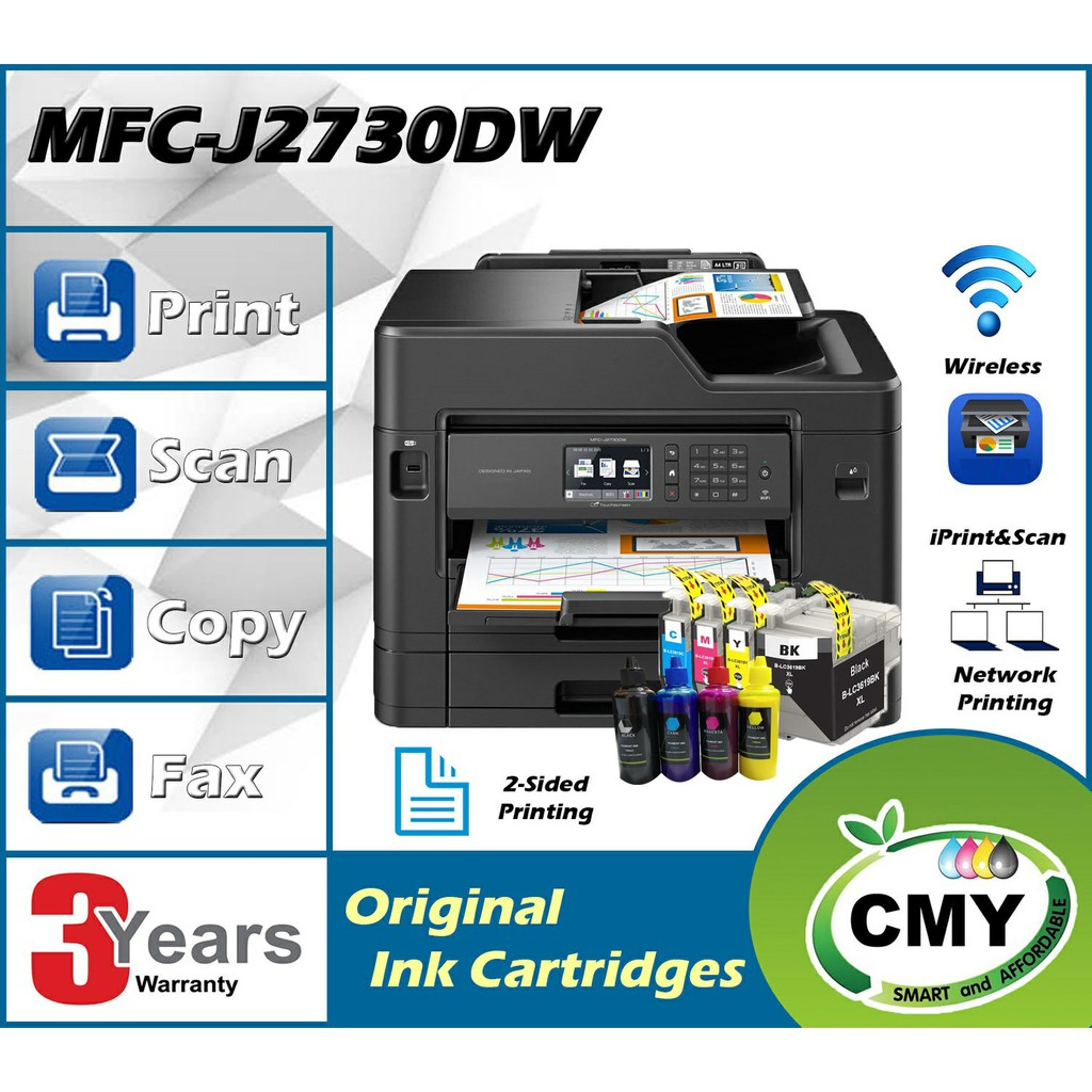 Brother MFC-J2730DW All-In-1 With A3 Print Duplex A4 Scan Wifi Network Printer