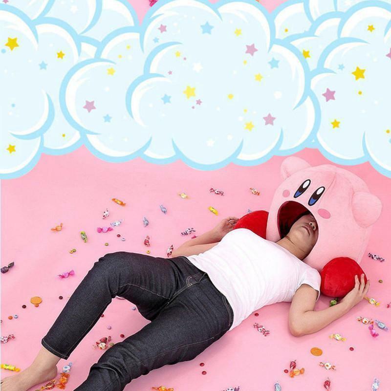 Super Kawaii Game Kirby Siesta Toe Box Plush Soft Sleep Pillow Cosplay Gifts Toy