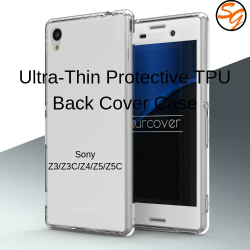 Protective Clear Transparent Back Case Cover for Sony Xperia Z3 | Shopee Malaysia
