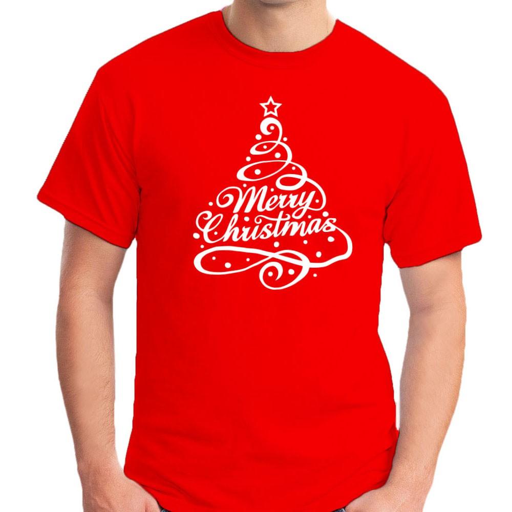 Merry Christmas Tree Glow In Dark Unisex Round Neck Cotton T Shirt