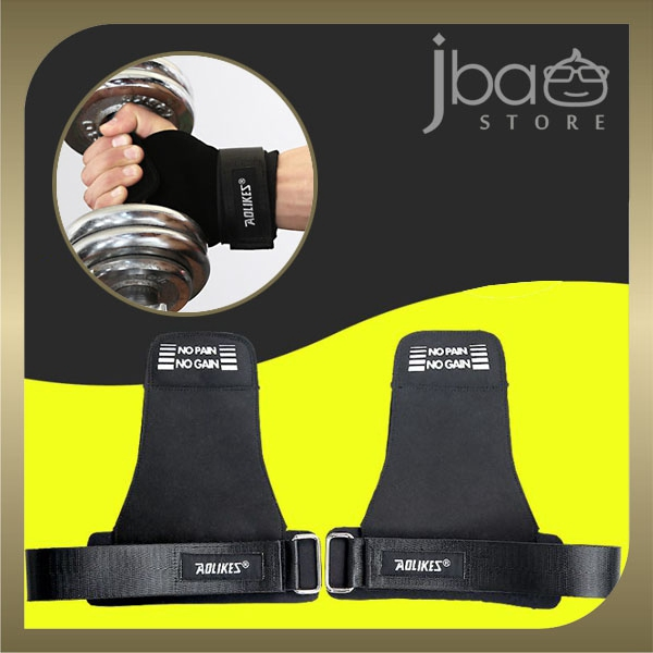 Aolikes Weight Lifting Dumbbell Grip Wrist Band Wrap Support Gloves Gym Fitness