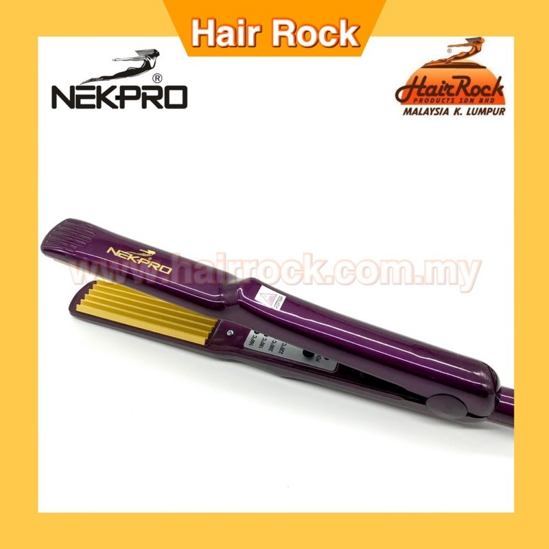 NEKPRO Hair Crimper Zig Zag Salon Premium Quality