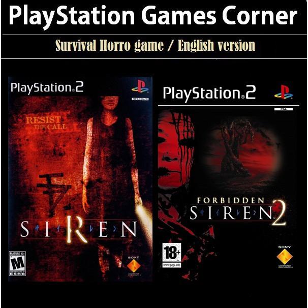Ps2 Game Forbidden Siren 1 2 English Version Survival Horror