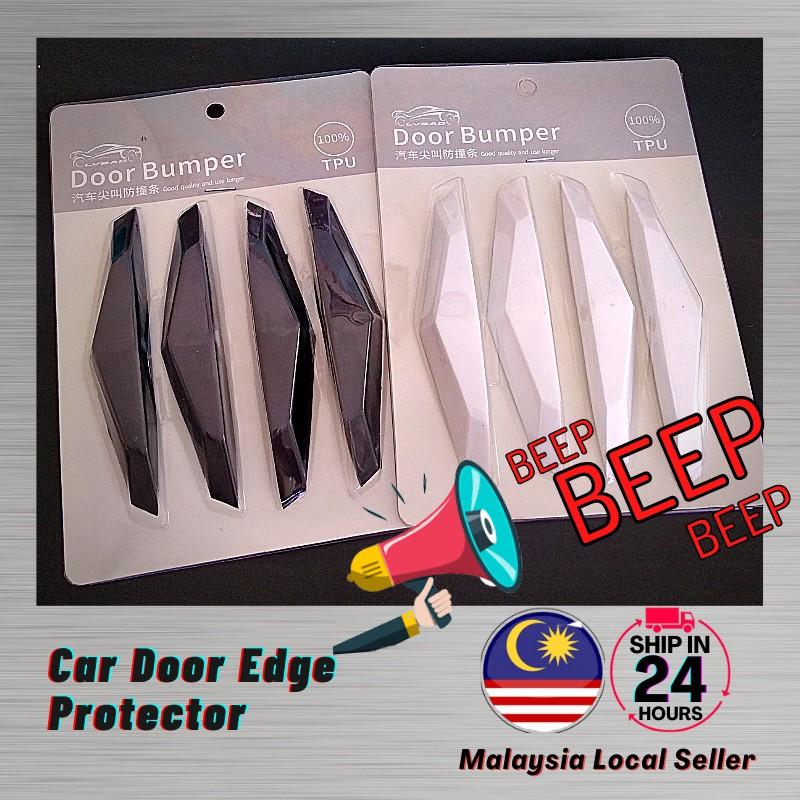 Ready Stock 4pcs Car Door Edge Protector BEEP sound Anti Collision Strip Grab Car Door Side Strip Sticker Bumper