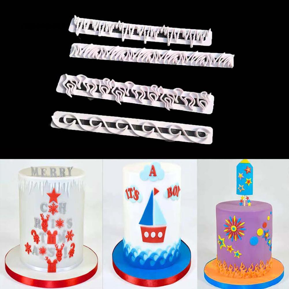Fondant Chocolate Baking Mold Embosser Cutter Cake Decor Tools Kitchen Supplies