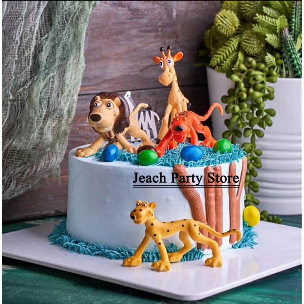 Swell Animal Birthday T Topper Forest Farm Animal Decoration Party Funny Birthday Cards Online Alyptdamsfinfo