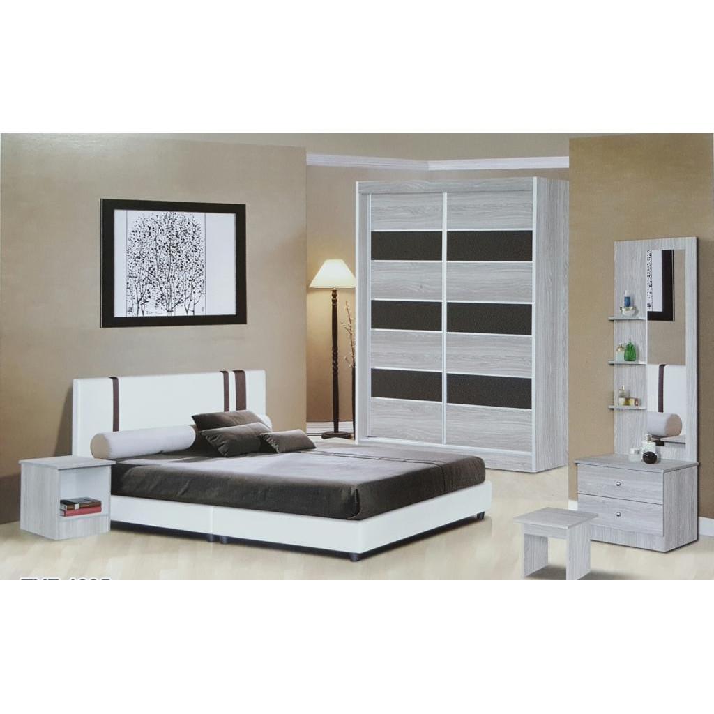 New Design Bedroom Set Wardrobe 4 X 6 White Wash Shopee Malaysia