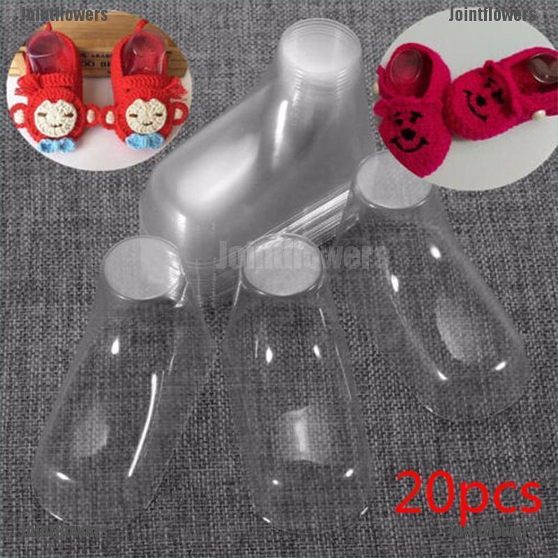 10-50pcs Baby Feet Display Booties Shoes Socks Clear Plastic PVC