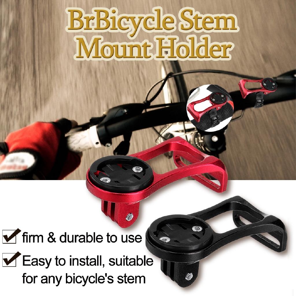Bike Stem Extension Computer Out Front Mount Holder For Garmin Bryton Cateye BME