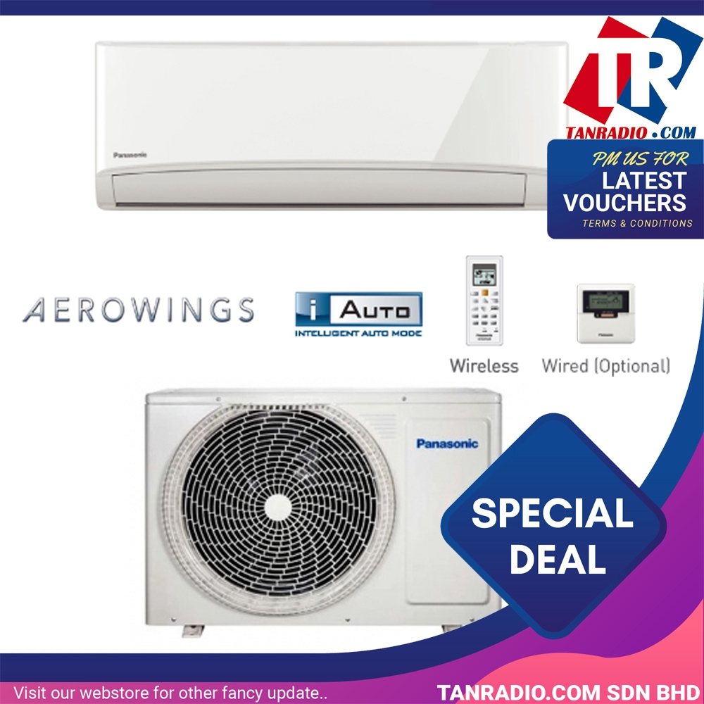 Panasonic Air Conditioner with Big Flap And R32 Refrigerant PANA-CS-PN12VKH-INDOOR
